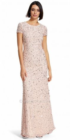 Adrianna Papell Scoop Back Sequin Embellished Evening Dress at eDressMe #affiliatelink