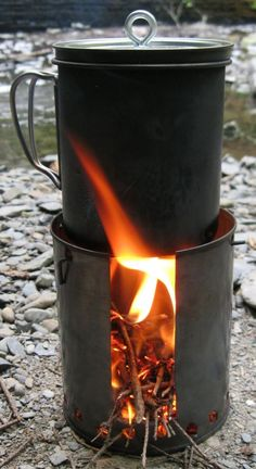 Alcohol/Wood Stove Hybrid