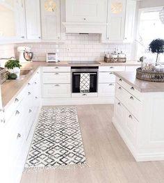 Kuchnia Biała Drewno Kitchen White Wood