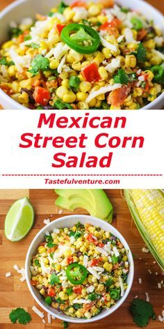 Street Corn Salad - Tastefulventure This Mexican Street Corn Salad is a crowd favorite! Each savory bite is bursting with flavor in your mouth. Clean Eating Recipes, Healthy Eating, Cooking Recipes, Easy Cooking, Healthy Salad Recipes, Vegetarian Recipes, Healthy Snacks, Sin Gluten, Cilantro