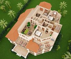 Turks and Caicos resort Sims House Plans, House Layout Plans, Dream House Plans, House Layouts, House Floor Plans, Small Room Design Bedroom, Kitchen Room Design, Interior Design Living Room, 2 Storey House Design