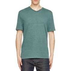 Threads For Thought Tri-Blend V-Neck Tee - Compare at $28 ($13) ❤ liked on Polyvore featuring men's fashion, men's clothing, men's shirts, men's t-shirts, evergreen, mens v neck shirts, mens v neck t shirts and mens vneck shirts