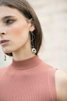 Leigh Miller - Two Tone Hepworth Drop earrings   BONA DRAG
