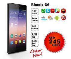"AED 245/- Only,Blumix G6 Plus Black 3G, Dual Core Processor 1.7 GHz, 5.0"" Display  Call or Whatsapp@ 0503497442 Buy Now@---->http://goo.gl/qeLz9E"