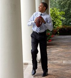 A must-see collection of President Obama's best and funniest candid moments, including adorable photos with kids, playful moments with his family, and other humorous antics.: Game Day