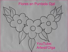 Artesd & # Olga: Flowers in Buttonhole Stitch Floral Embroidery Patterns, Hand Embroidery Stitches, Applique Patterns, Hand Embroidery Designs, Ribbon Embroidery, Beading Patterns, Quilling Designs, Fabric Painting, Quilts