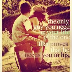 whoop! there it is ! truth.. if he deserves you, he will do everything in his power to keep you