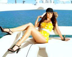 & she wore an itsy bitsy teeny weeny yellow polka dot bikini! #HOT