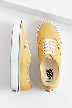 $50 | I need a good pair of yellow Vans for summer! | Vans Authentic Sneaker | women's fashion | women's clothes | women's shoes | vans | yellow shoes | #ad