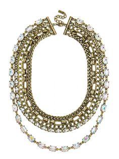 Borealis Chain Bib Necklace | BaubleBar