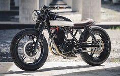 "bikebound: "" Beauty in Black & White: '82 Honda FT500 #tracker by @jordanfroidmont. Found via @c2r_custom. """