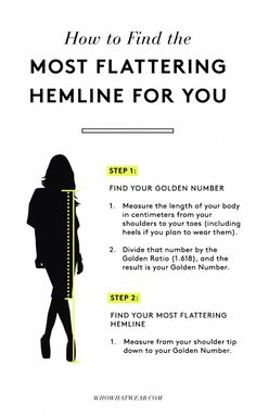 Style tips How to Make Your Legs Look Slim Every Time Your most flattering hemline : hemline golden ratio Looks Style, Looks Cool, Style Me, Hair Style, Mode Bcbg, Golden Number, Look Thinner, Look Fashion, Fashion Clothes
