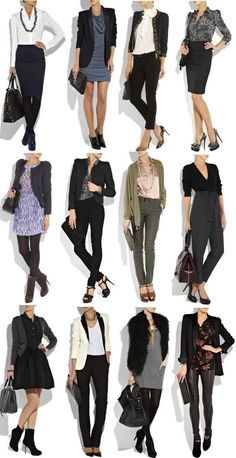 workwear outfits different look business casual attire women young professionals new job chic fashionable #fashion #clothes