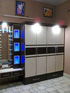 Made by pure wood and also Life Time Garinty Wall Wardrobe Design, Sliding Door Wardrobe Designs, Wardrobe Interior Design, Bedroom Closet Design, Bedroom Furniture Design, Bedroom Wardrobe, Closet Designs, Pooja Room Design, Home Room Design