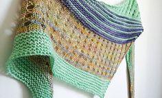 Debut is a simple triangular shawl, worked sideways.