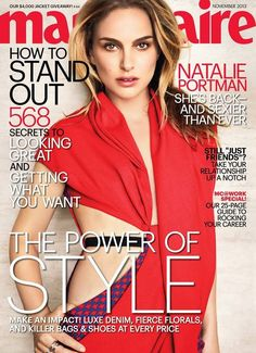 Natalie Portman in Dior stuns on cover of Marie Claire November 2013.