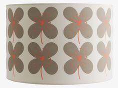 SAKURA MULTI-COLOURED fabric Fabric drum lampshade D30 x H20cm - HabitatUK