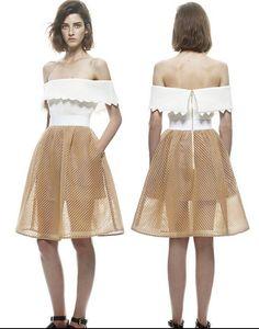 b0d6e05e14 new London catwalk fashion sexy word stitching Puff Tee Dress