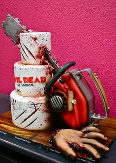 Evil Dead Chainsaw Cake