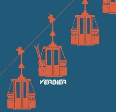 Verbier telecabine. Rosalind Monks design. http://shop.skiservice.com