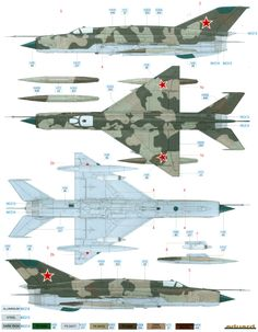 Here is our color profile and paint guide for the MiG-21SMT Fishbed K Soviet AF