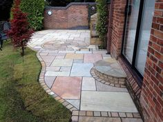 Incredible job by Caperbility Garden Services with our Natural Stone paving Stone Landscaping, Landscaping Ideas, Contemporary Patio, Paving Stones, Outdoor Living, Outdoor Decor, Organic Gardening, Natural Stones, Patio Ideas