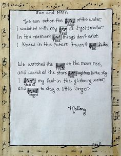 Music Note Poetry