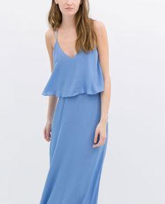 Image 2 of LONG DRESS WITH LOW BACK from Zara <3 want it soooooooooo bad!!