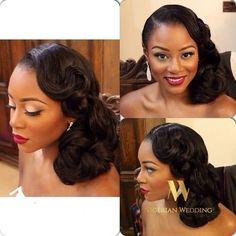 Chignon Classique Marie Afro Wedding Pinterest Coiffure