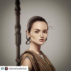 End. #Repost @danielwallerius with @repostapp.  Pronto! Rey do Star Wars! Vou fazer o resto da galera no mesmo estilo! Gostei hahahaha! #rey #sketch #starwars #forceawakens by rey.the.jedi