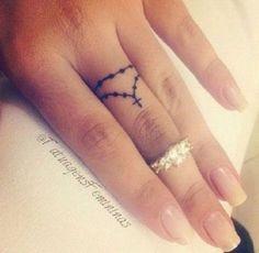 Small Rosary Finger Tattoo.