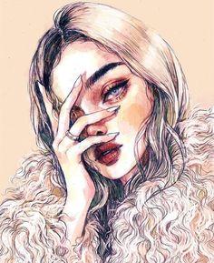 ideas anime art girl thoughts for 2019 Inspiration Art, Art Inspo, Pretty Art, Cute Art, Bel Art, L'art Du Portrait, Portraits, Art Mignon, Arte Pop