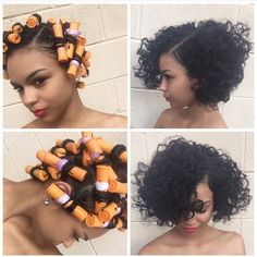It's a roller set on relaxed hair, but I don't care it's still pretty.