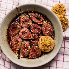 Nigel Slater's baked aubergine and fig recipes | Food | The Guardian Fig Recipes, Lentil Recipes, Baking Recipes, Recipies, Blackberry And Apple Pie, Spinach Curry, Nigel Slater, Fall Dishes, Cooking