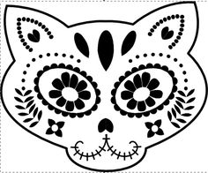 Sugar Skull Pumpkin Template events In Louisville Ky Republic Bank First Friday Hop Easy Sugar Skull 7 Halloween Sugar Skull Znaczenie Sugar Skull Stencil, Cat Pumpkin Stencil, Sugar Skull Cat, Sugar Skulls, Pumpkin Painting, Pumpkin Template, Pumpkin Carving Templates, Halloween Cat, Halloween Pumpkins