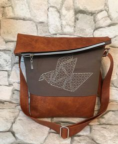 Schultertaschen - FoldOver Tasche, Origami Bird - ein Designerstück von Kleine-Wollbude bei DaWanda