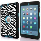 Shockproof Heavy Duty Rubber Hard Case Cover For Apple iPad 2/3/4 Zebra Blue