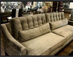 Love this Z Gallerie pewter couch!