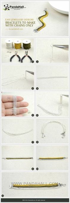 Jewelry Making Tutorial--DIY Bracelet with Chains Only | PandaHall Beads Jewelry Blog