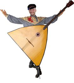 "Of Russian origin, the Balalaika has a triangular body with generally three strings (sometimes six strings in 3 courses). It is considered to be lute-like folk instrument from the northern and central regions of Russia created during the 17th century. The Balalaika was created by the common people that could not afford the expensive ""Domra"". The Balalaikan songs illustrate the sorrows and joys of the peasants and workmen."