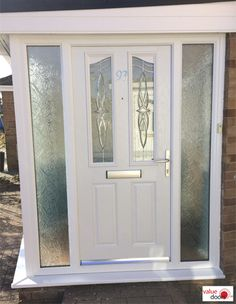 Composite Doors with Side Panels are effortlessly stylish. Make the most out of your entryway with a Composite Front Door and Side Panel. Click the link to find out more today! Composite Front Door, Front Door Colors, White Doors, Side Panels, How To Find Out, Composition, Entryway, Stylish, Link