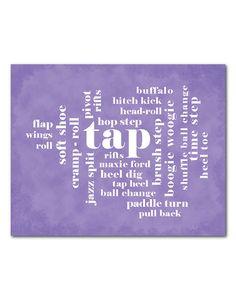 Dance - Wall Art - Tap - Typography Art - Teen or Tween Art - Kid's Room Decor - Dance Print -  Tap Dance Terms - Wall Decor