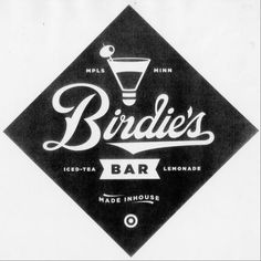 Birdie's Bar #design #logo #script #retro #typography #type #graphic #design #lettering #branding #bar