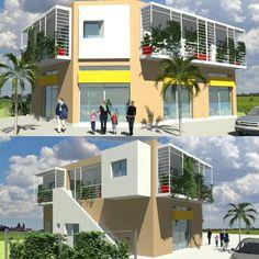 """26 Me gusta, 1 comentarios - Arquitectura Mario Avalos (@arqfengshui) en Instagram: """"Proyecto locales comerciales y departamentos de alquiler. #arquitectura #diseño #fengshui…"""""""