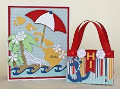 Beautiful beach set featuring the Cheery Lynn Designs Hawaii die from the New North America collection