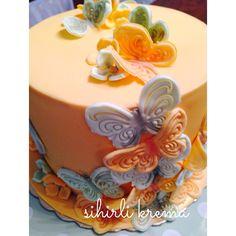 Butterfly Cake #fondantcakes #butikpasta #sugarart #butterflies