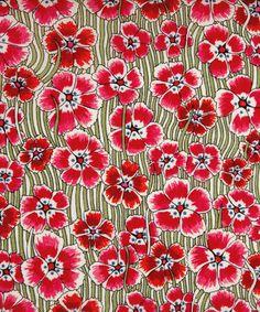 Motif fleur rouge