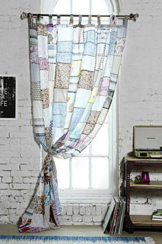 Magical Thinking Patchwork Curtain - Urban Outfitters - pojagi style goes mass market Window Panels, Window Coverings, Patchwork Curtains, Magical Thinking, Interior Design Inspiration, Sweet Home, Shabby Chic, Urban Outfitters, Home Decor