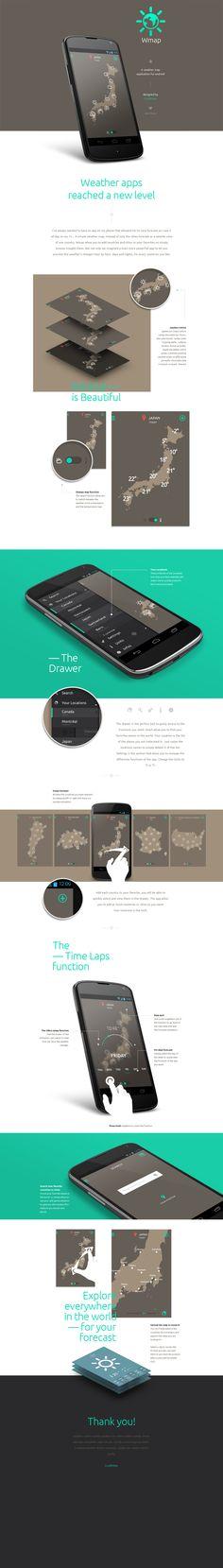 Wmap by GrafikWar | prez_900px #app #android #kitkat #ui #webdesign #weather #map