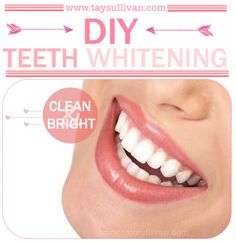 DIY Teeth Whitening {very effective}; pin now, read later
